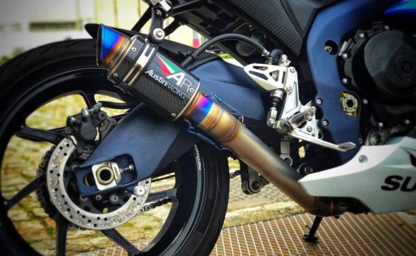 Fabrico de d'cat e tubo para aplicação de ponteira em Suzuki gsxr 1000 L2.